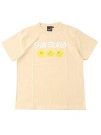 [Rakuten Fashion]【SPECIAL PRICE】BEAMS T / STAY STOKED Tee BEAMS T ビームスT カットソー Tシャツ ベージュ ホワイト
