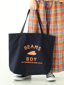 [Rakuten Fashion]【WEB限定】BEAMS BOY / BB ロゴ TOTE BAG (L) BEAMS BOY ビームス ウイメン バッグ トートバッグ ネイビー ベージュ【送料無料】