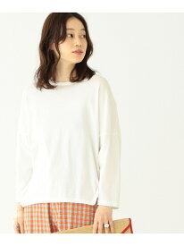 [Rakuten Fashion]BEAMS BOY / ドロップショルダー 裾ラウンド7分袖(ビームスボーイ) BEAMS BOY ビームス ウイメン カットソー カットソーその他 ホワイト グレー【送料無料】