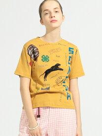 [Rakuten Fashion]【SALE/50%OFF】BEAMS BOY / ボーイ メモリアル プリント ショートスリーブ Tシャツ BEAMS BOY ビームス ウイメン カットソー Tシャツ イエロー ホワイト【RBA_E】【送料無料】