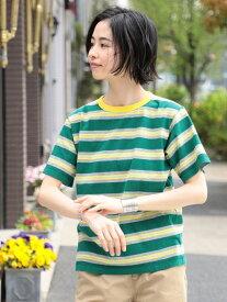 [Rakuten Fashion]【SALE/50%OFF】BEAMS BOY / BOYマルチボーダー リンガーTシャツ BEAMS BOY ビームス ウイメン カットソー Tシャツ ホワイト ネイビー【RBA_E】