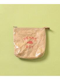 [Rakuten Fashion]BEAMS BOY / BB ロゴ ポーチ ビームスボーイ BEAMS BOY ビームス ウイメン バッグ ポーチ ベージュ【送料無料】