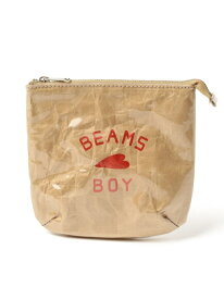 BEAMS BOY / BB ロゴ ポーチ ビームスボーイ BEAMS BOY ビームス ウイメン バッグ ポーチ ベージュ【先行予約】*【送料無料】[Rakuten Fashion]