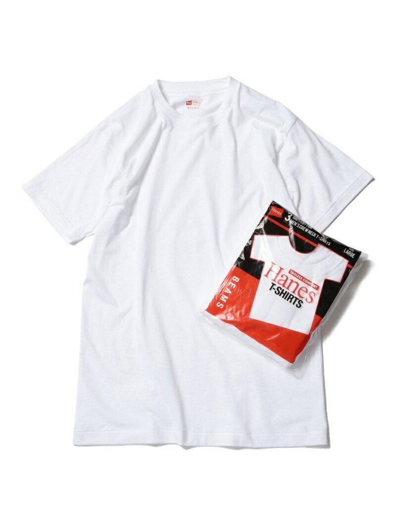 BEAMS MEN Hanes × BEAMS / 別注 赤ラベル パックTシャツ(3枚組) ビームス メン