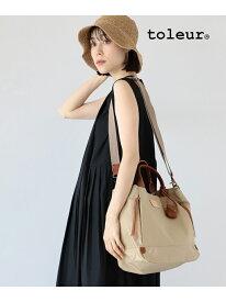[Rakuten Fashion]toleur / ポリエステル 2way トートバッグ Ray BEAMS ビームス ウイメン バッグ トートバッグ ベージュ ブラック【送料無料】