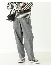 [Rakuten Fashion]GRAMICCI × BEAMS BOY / 別注 太 テーパード パンツ BEAMS BOY ビームス ウイメン パンツ/ジーンズ フルレングス ブラック ベージュ【送料無料】