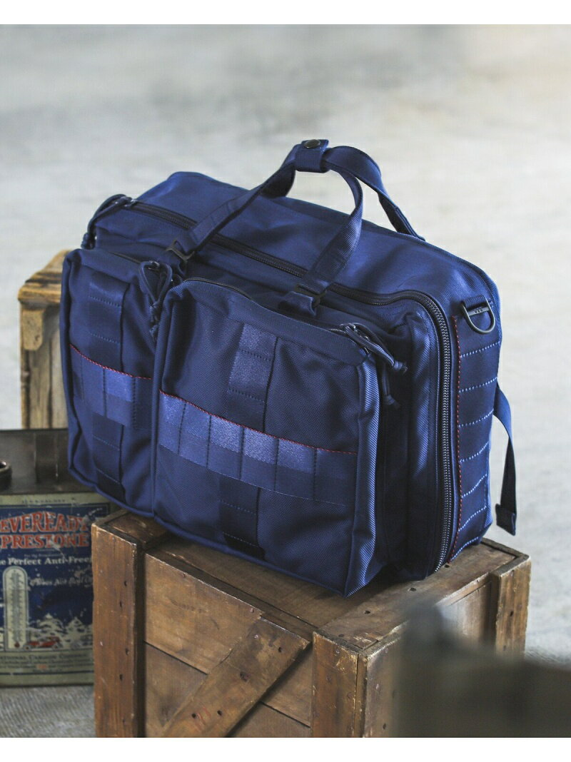 "BEAMS MEN BRIEFING × BEAMS PLUS / 別注 ""3WAY BAG"" NAVY ビームス メン【送料無料】"