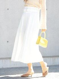 [Rakuten Fashion]【SALE/50%OFF】Ray BEAMS / プリーツ キリカエ フレア スカート Ray BEAMS ビームス ウイメン スカート フレアスカート ホワイト ベージュ ネイビー【RBA_E】【送料無料】