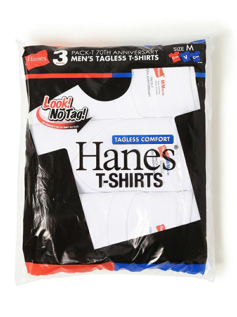 [Rakuten BRAND AVENUE]BEAMS MEN Hanes / 70th アニバーサリー 3パック Tシャツ ビームス メン