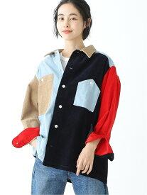 [Rakuten Fashion]BEAMS BOY / コーデュロイ クレイジーカラー ワークシャツ beams beamsboy クレイジー カラフル シャツ 好評 人気 新作 カジュアル ヴィンテージライク オーバーサイズ ビッグサイズ ビッグシルエ【送料無料】