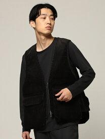 [Rakuten Fashion]【SALE/40%OFF】BEAMS / シューティング ベスト BEAMS MEN ビームス メン コート/ジャケット ベスト ブラック ブラウン【RBA_E】【送料無料】