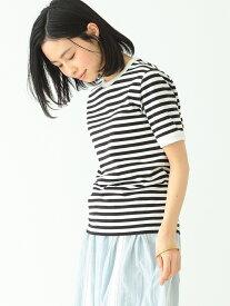 [Rakuten Fashion]【SALE/40%OFF】BEAMS BOY / ボーダー ワイドバインダー Tシャツ BEAMS BOY ビームス ウイメン カットソー Tシャツ ブラック グリーン オレンジ ピンク【RBA_E】