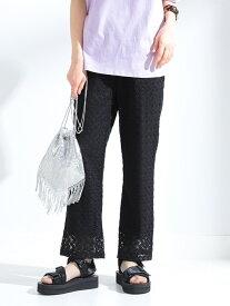[Rakuten Fashion]【SALE/40%OFF】Ray BEAMS / カット レースパンツ Ray BEAMS ビームス ウイメン パンツ/ジーンズ フルレングス ブラック ベージュ【RBA_E】【送料無料】