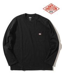 [Rakuten Fashion]DANTON / ポケット ロング スリーブ Tシャツ BEAMS MEN ビームス メン カットソー Uネックカットソー ブラック ネイビー ホワイト【送料無料】