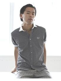 [Rakuten Fashion]FRED PERRY × BEAMS / 別注 カッタウェイ ポロシャツ 20SS BEAMS MEN ビームス メン カットソー ポロシャツ ブラック ホワイト ブルー【送料無料】