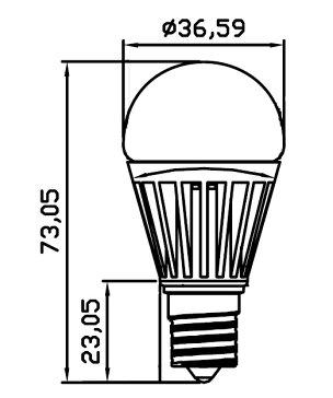 あす楽LED電球E17ミニクリプトン45W相当電球色白色昼光色LB9317ビームテック