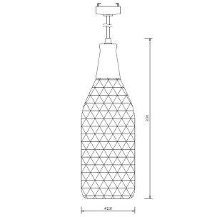 ペンダントライトgibiccE26口金黒網LED対応電球別売照明ボトルジビックPL-NetBtl-E26ビームテック