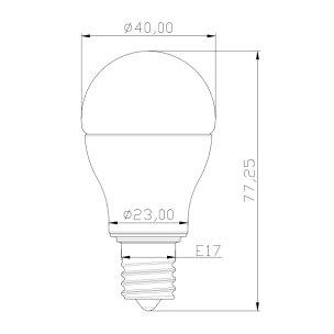 LED電球E17ミニクリプトン60W相当電球色調光器対応LBP9717AD-II