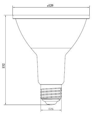LED電球スポットライトE26ハロゲン150W相当電球色LSBM6126AVDビームテック