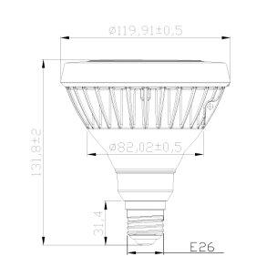 LEDビーム電球E26150W形相当スポットライト屋外・屋内兼用PAR38ビームランプ型E26口金18W防湿防雨防水タイプビーム球型ビームランプ形ハロゲンビーム電球電球色昼白色LDR18-MGW38