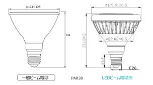 【本日Maxポイント還元中!】LED電球スポットライトE26ハロゲン150W相当電球色昼白色LDR18-MGW38ビームテック