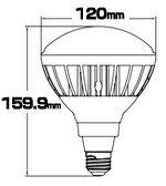 【本日Maxポイント還元中!】LED電球スポットライトE26ハロゲン300W相当電球色調光器対応LB6826W-PTビームテック