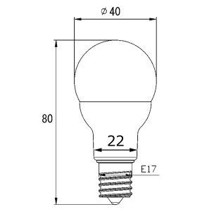 LED電球E17ミニクリプトン形LED小型電球4.8W(55型相当※直下照度で比較した場合)長寿命節電対策300度範囲以上発光演色性RA80以上調光対応LB9717HD濃い電球色:2300KLB9717AD電球色:2700KLB9717ND白色:4500KLB9717CD昼光色:6000K