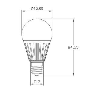 【本日Maxポイント還元中!】10個セットLED電球E17ミニクリプトン100W相当電球色調光器対応LB9917D-II--10ビームテック