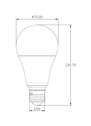 LED電球E26100W形相当口金e26一般電球100w形LED電球E26電球色昼白色led電球26mm光の広がるタイプ全方向LEDライトLED電球電球色e26日亜化学チップハイスペック型LDA12-G/Z100/BT【beamtec】