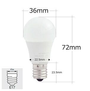LED電球E17ミニクリプトン25W相当電球色昼光色LDA3-E17C25ビームテック