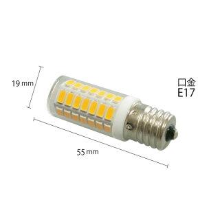 LED電球E17ナツメ球T型電球色LDT1L-E17-4Wビームテック