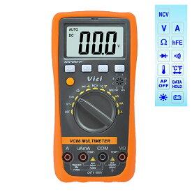 MM86 デジタル マルチメータ DMM 電池付き 電流 電圧 抵抗値 温度 トランジスタ ダイオード 導通測定 自動および手動レンジ ビームテック