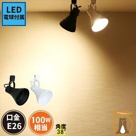 ダクトレール用スポットライト ダクトレール スポットライト 照明 E26 黒 白 電球色 昼白色 シーリングライト 天井照明 ライティングレール ライトレール インテリア レールライト 天井 店舗 ブルックリンスタイル E26RAILPAR38-LDR10 ビームテック