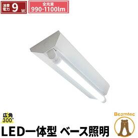 LED蛍光灯 20W 20形 直管 器具 照明器具 1灯 一体型 ベースライト 逆富士 両側給電 虫対策 電球色 1000lm 昼白色 1100lm 昼光色 1100lm FR20X1-LT20K-III ビームテック