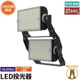 LED投光器 600W 投光器 LED 屋外 看板 駐車場 倉庫 工場 作業灯 防犯灯 LED高天井用照明器具 LEG600 ビームテック