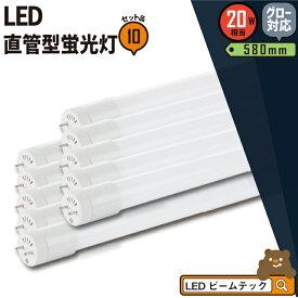 10本セット LED蛍光灯 20W 直管 電球色 昼白色 昼光色 LT20K-III--10 ビームテック