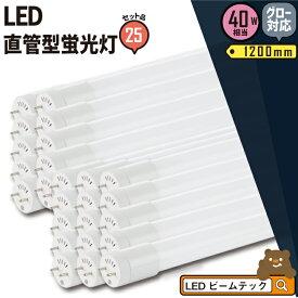 25本セット LED蛍光灯 40形 グロー 工事不要 電球色 昼白色 40W LT40K-III--25 広角 直管 照明 Brite ビームテック