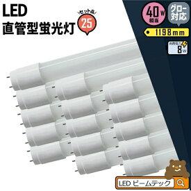 20本セット LED蛍光灯 40W形 直管 直管LED 3年保証 虫対策 昼白色 2000lm LTG40YT--20 ビームテック