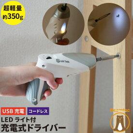 LEDライト付き コンパクト 充電式ドライバー MINID36 ビームテック