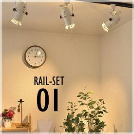 シーリングライト おしゃれ スポット LED ライト 天井照明 ライティングレール ダクトレール RAIL-SET01 ビームテック