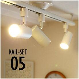 シーリングライト おしゃれ スポット LED ライト 天井照明 ライティングレール ダクトレール RAIL-SET05 ビームテック