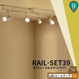 シーリングライト おしゃれ スポット LED ライト 天井照明 ライティングレール ダクトレール RAIL-SET39 ビームテック