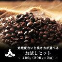 【ネコポス送料無料】焙煎指定が出来る!新鮮コーヒー豆お試しセット(200g×2種/生豆時) コーヒー豆 おいしい ブラッ…