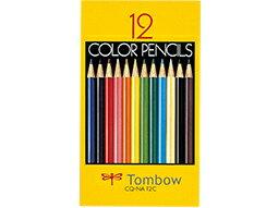 【メール便送料無料】トンボ 12色 色鉛筆 カラーペンシル CQ-NA12C 紙箱入り / TOMBOW