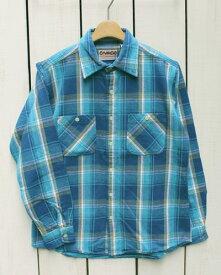 CAMCO mfg Heavy Weight Flannel Shirts Long Sleeve / 18-f-19 カムコ ヘビーウエイト フランネル シャツ 長袖 ネルシャツ 定番 ブルー ライトブルー camco work ネルシャツ ヘビーネル チェック