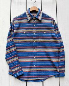 CAMCO mfg Heavy Weight Flannel Shirts Long Sleeve / 20-A カムコ ヘビーウエイト フランネル シャツ 長袖 ネルシャツ 定番 ブルー ボーダー camco work ネルシャツ ヘビーネル ボーダー ストライプ 20