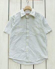 CAMCO Short Sleeve Chambray Work Shirts Off White Railroad Stripe カムコ シャンブレー ワーク シャツ / 半袖 オフホワイト レイルロード ストライプ