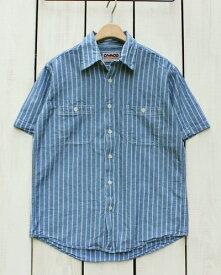 再入荷 CAMCO Short Sleeve Chambray Work Shirts Blue Railroad Stripe カムコ シャンブレー ワーク シャツ / 半袖 ブルー レイルロード ストライプ camco mfg factory camco カムコ シャンブレー