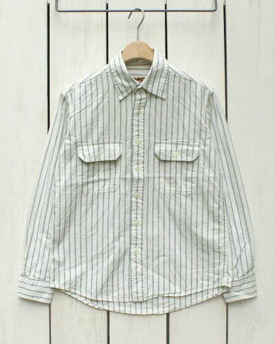 CAMCO Long Sleeve Chambray Work Shirts Off White Stripe カムコ シャンブレー ワーク シャツ / 長袖 オフホワイト ストライプ camco factory rrl polo カムコ シャンブレー