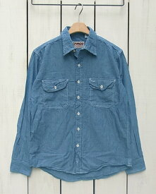 CAMCO Long Sleeve Chambray Work Shirts Blue カムコ シャンブレー ワーク シャツ / 長袖 ブルー camco standard basic カムコ シャンブレー